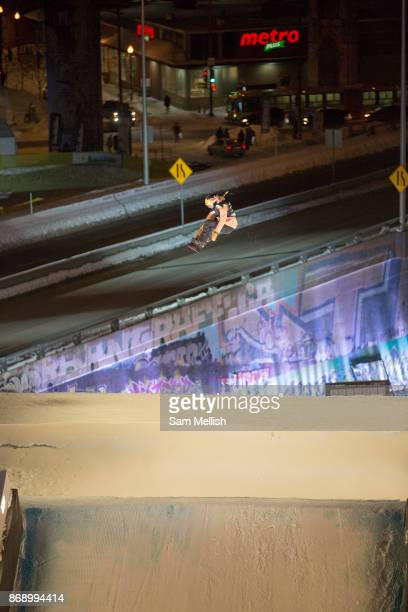 Katie Ormerod during the FIS Jamboree snowboard Big Air qualifiers on 08th February 2017 in downtown Quebec Canada The Canadian Jamboree is part of...