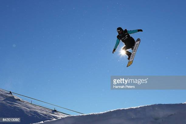 Katie Ormerod of Great Britain comeptes during Winter Games NZ FIS Women's Snowboard World Cup Slopestyle Qualifying at Cardrona Alpine Resort on...