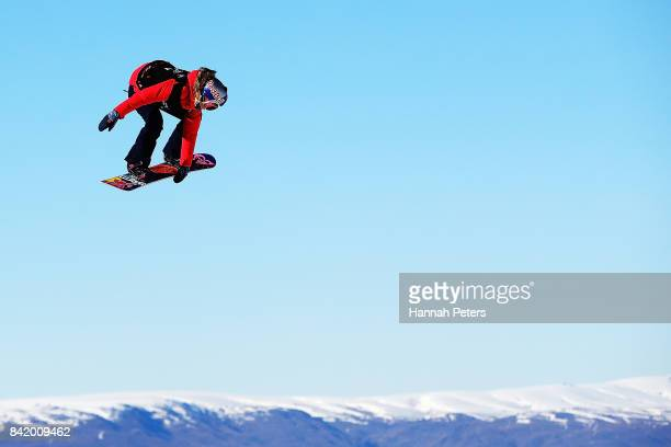 Katie Ormerod of Great Britain competes during Winter Games NZ FIS Women's Snowboard World Cup Slopestyle Qualifying at Cardrona Alpine Resort on...