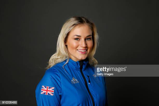 Katie Ormerod poses at The Team GB Kitting Out Ahead Of Pyeongchang 2018 Winter Olympic Games on January 24 2018 in Stockport England