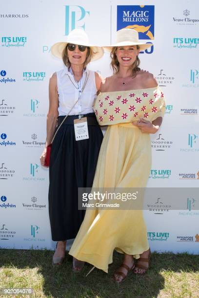 Katie Page and racing identity Francesca Cumani attend Magic Millions Polo on January 7 2018 in Gold Coast Australia