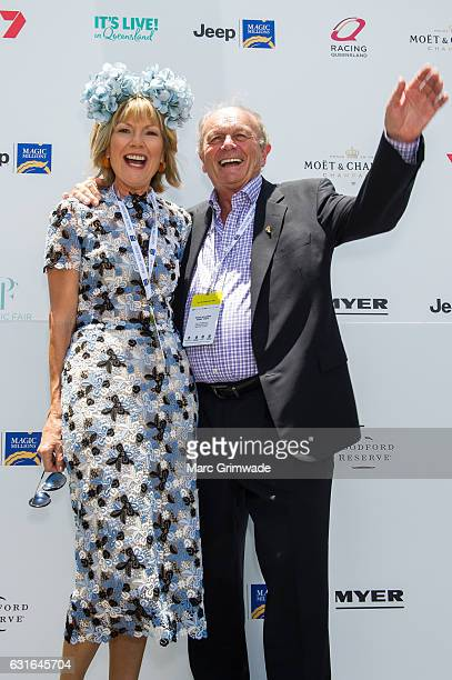 Katie PageHarvey and Gerry Harvey attend Magic Millions Raceday on January 14 2017 in Gold Coast Australia