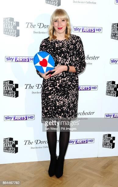 Katie Paterson wins the Visual Art award at the South Bank Sky Arts Awards at the Dorchester Hotel London