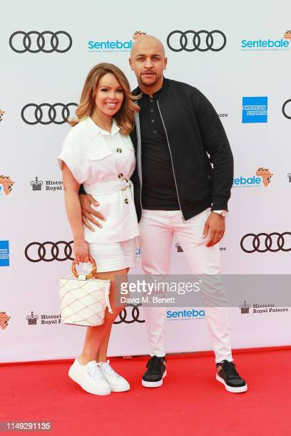 Katie Piper and Richard James Sutton arrive at the Audi Sentebale Concert at Hampton Court Palace on June 11 2019 in London England