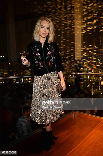 Katie Piper attends the Christmas Installation unveiling by Sir David Attenborough at Aqua Shard on November 16 2016 in London England