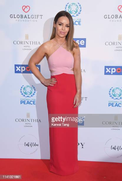 Katie Piper attends the Football for Peace Initiative Dinner by Global Gift Foundation at Corinthia Hotel London on April 08 2019 in London England