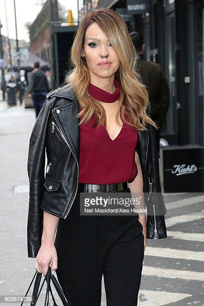 Katie Piper attends the High Definition pop up boutique at Boxpark in Shoreditch on January 6 2016 in London England