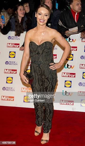 Katie Piper attends the Pride of Britain awards at The Grosvenor House Hotel on October 6 2014 in London England