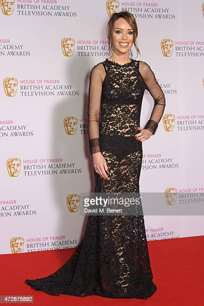 Katie Piper poses in the winners room at the House of Fraser British Academy Television Awards at Theatre Royal Drury Lane on May 10 2015 in London...