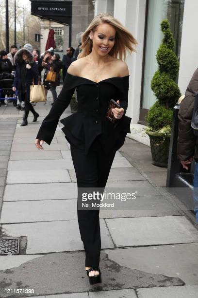 Katie Piper seen arriving for the TRIC Awards at Grosvenor House on March 10 2020 in London England