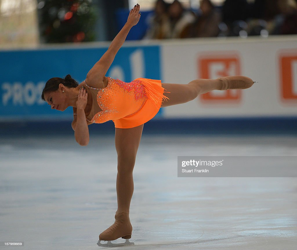 Katie Powell of Great Britian dances during the senior ladies short program of the NRW trophy 2012 at Eissportzentrum on December 8, 2012 in Dortmund, Germany.