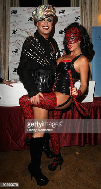 Katie Price aka Jordan and friend attends The Bloodlust Ball at Hampton Court Palace on October 31 2009 in London England