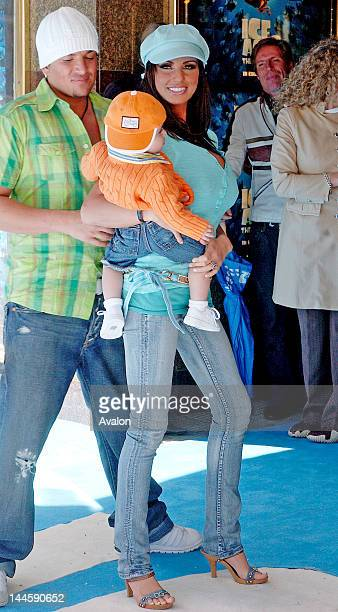 Katie Price aka Jordan and her son Junior attending Ice Age 2 The Meltdown Premiere Empire Leicester Square London April 3 2006 Job 11473