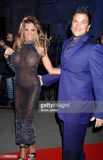 Katie Price AKA Jordan and husband Peter Andre during Andy Patti Wong's Chinese New Year Party January 29 2006 at Royal Courts Of Justice in London...