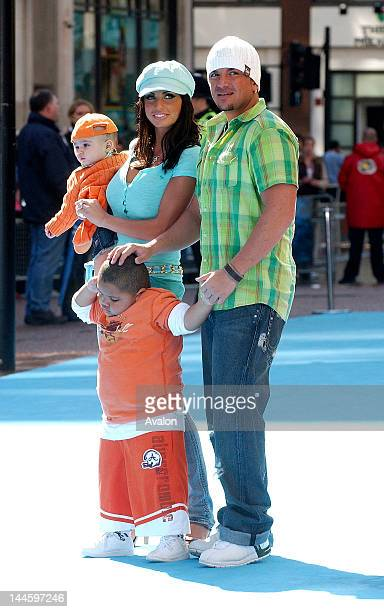 Katie Price aka Jordan and husband Peter Andre with children Harvey and Junior attending Ice Age 2 The Meltdown Premiere Empire Leicester Square...