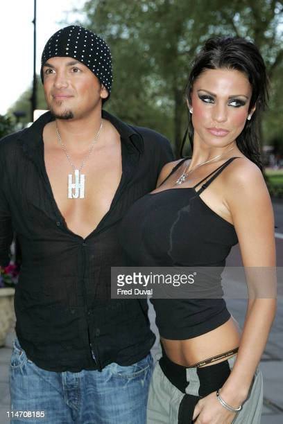 Katie Price, aka Jordan, and Peter Andre during 2006 Sony Radio Academy Awards - Outside Arrivals at Grosvenor House in London, Great Britain, United...