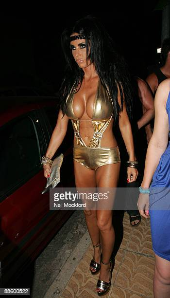 Katie Price aka Jordan arrives at 'Boho' nightclub on June 21 2009 in Ibiza Spain