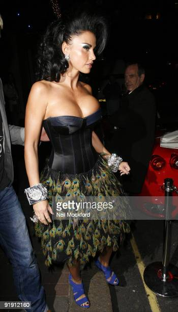 Katie Price aka Jordan sighted leaving The Mayfair Hotel at The Mayfair Hotel on October 15 2009 in London England