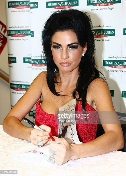 Katie Price aka Jordan signs copies of her book 'Standing Out' in Hughes Hughes on October 31 2009 in Dublin Ireland