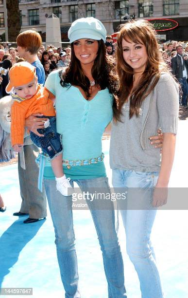 Katie Price aka Jordan with son Junior and sister Sophie attending Ice Age 2 The Meltdown Premiere Empire Leicester Square London April 3 2006 Job...