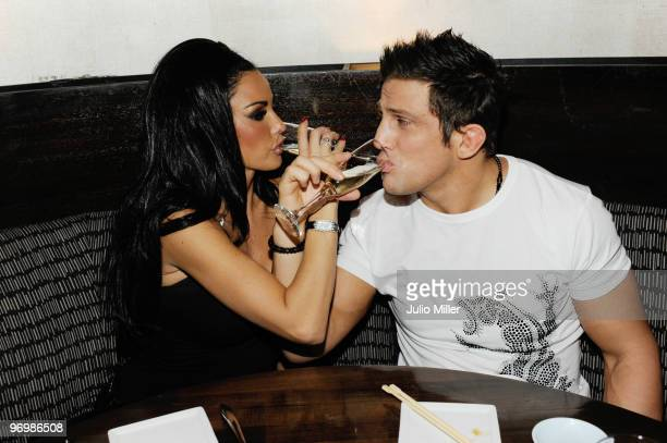 Katie Price and Alex Reid sighted celebrating on their honeymoon at Planet Hollywood on February 4 2010 in Las Vegas Nevada