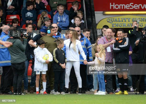 Katie Price and Children Harvey Price Junior Andre and Princess Andre attend Sellebrity Soccer Match in aid of Smile For Joel and Compton Hospice at...