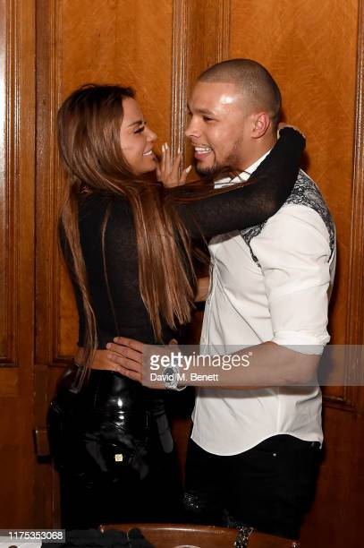 Katie Price and Chris Eubank Jr attend Chris Eubank Jr's surprise birthday party at Tramp on September 17, 2019 in London, England.