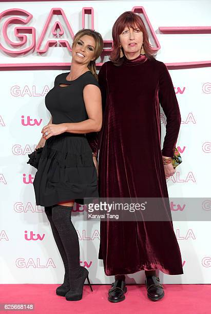 Katie Price and Janet Street Porter attend the ITV Gala at London Palladium on November 24 2016 in London England
