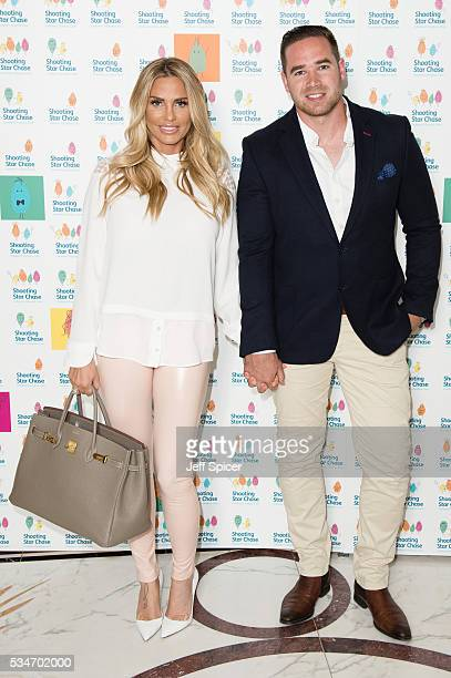 Katie Price and Kieran Hayler arrive for Star Chase Children's Hospice Event at The Dorchester on May 27 2016 in London England