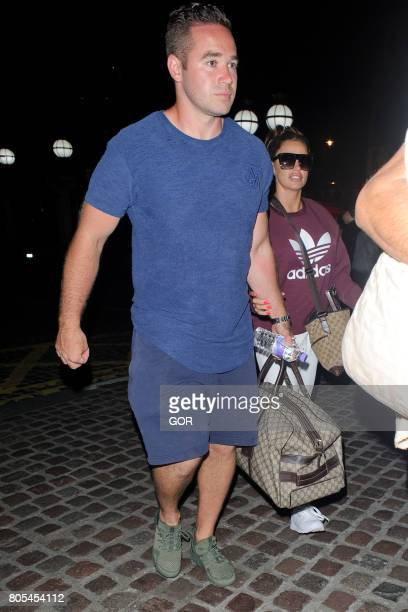 Katie Price and Kieran Hayler arriving at a central London hotel on July 1 2017 in London England