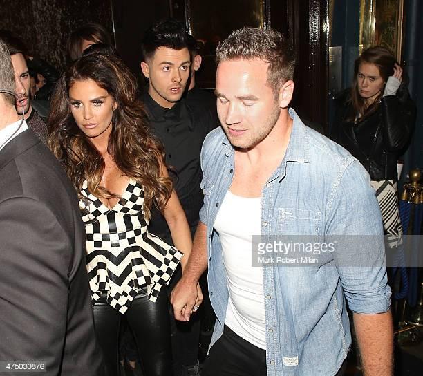 Katie Price and Kieran Hayler at Cafe de Paris on May 28 2015 in London England