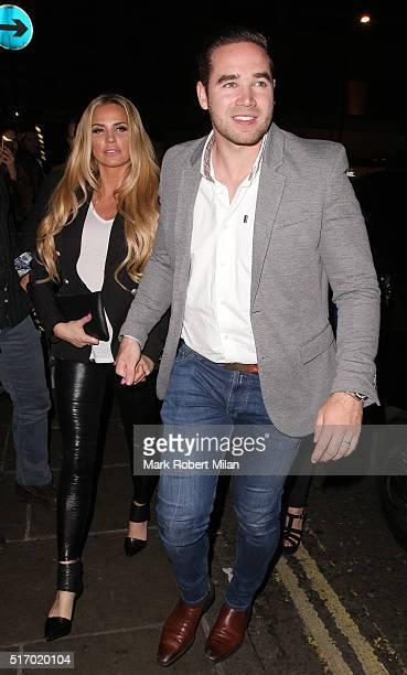 Katie Price and Kieran Hayler at Novikov restaurant on March 22 2016 in London England