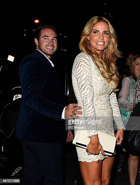 Katie Price and Kieran Hayler attend In The Style's Summer Part at The Drury Club on July 16 2015 in London England