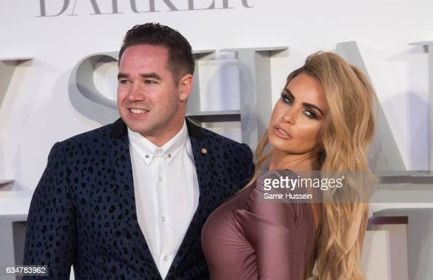 Katie Price and Kieran Hayler attend the Fifty Shades Darker UK Premiere on February 9 2017 in London United Kingdom