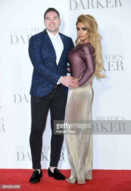 Katie Price and Kieran Hayler attend the UK Premiere of 'Fifty Shades Darker' at the Odeon Leicester Square on February 9 2017 in London United...