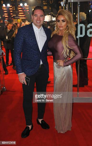 Katie Price and Kieran Hayler attends the UK Premiere of 'Fifty Shades Darker' at Odeon Leicester Square on February 9 2017 in London United Kingdom