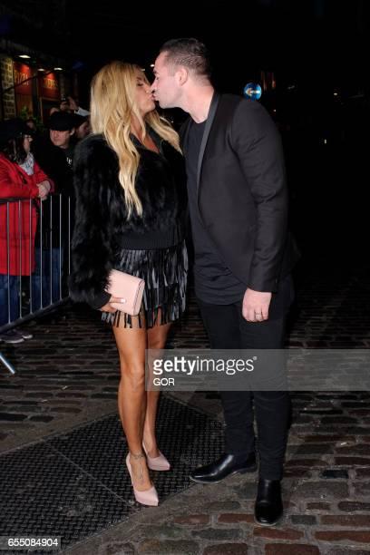 Katie Price and Kieran Hayler sighting at Gilgalmesh club Camden on March 18 2017 in London England