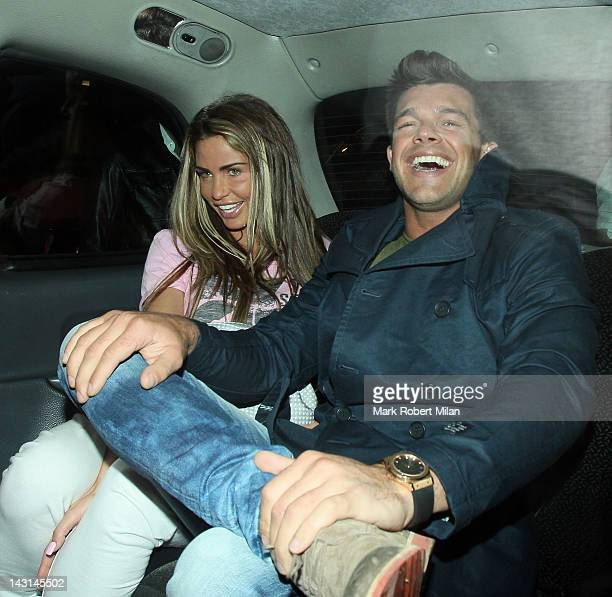 Katie Price and Leandro Penna at Nobu Berkeley restaurant on April 19 2012 in London England