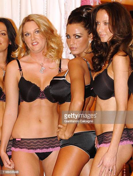 Katie Price and models during Katie Price Launches Her New Lingerie Range Photocall at The Worx in London Great Britain