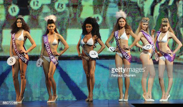 Katie Price and models walk the catwalk for the second day at The Clothes Show London at ExCel on May 30 2009 in London England