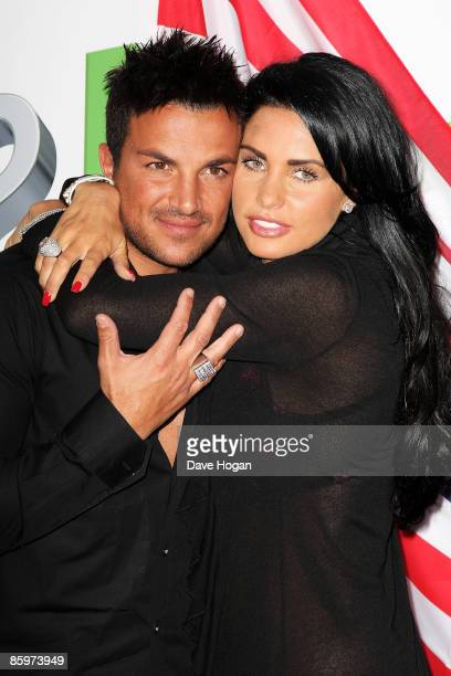 Katie Price and Peter Andre attend a press conference to launch the latest chapter in their reality TV series held at The Soho Hotel on April 14,...
