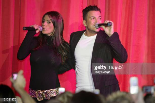 Katie Price and Peter Andre during Katie Price and Peter Andre Perform for Charity at The Flamingo Club December 2 2006 at The Flamingo Club in...