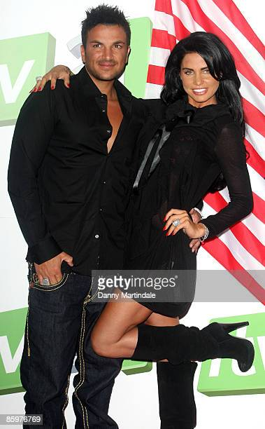 Katie Price and Peter Andre launch the latest chapter of their reality series at The Soho Hotel on April 14, 2009 in London, England.