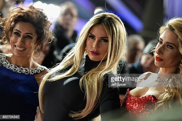 Katie Price and Stacey Solomon attends the National Television Awards on January 25 2017 in London United Kingdom