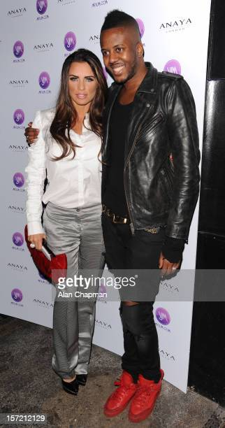 Katie Price and Vaz Morgan sighting at Anaya on November 29, 2012 in London, England.