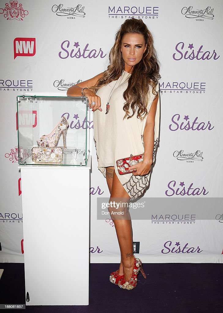 Katie Price appears at Marquee Nightclub on November 15, 2013 in Sydney, Australia.