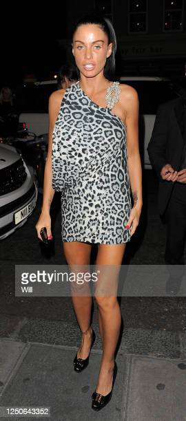 Katie Price arrives at Nobu Berkley restaurant on June 11, 2009 in London, England.