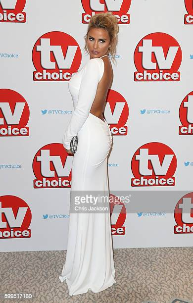 Katie Price arrives for the TV Choice Awards at The Dorchester on September 5 2016 in London England