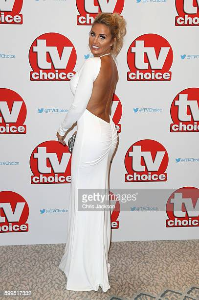 Katie Price arrives for the TV Choice Awards at The Dorchester on September 5, 2016 in London, England.