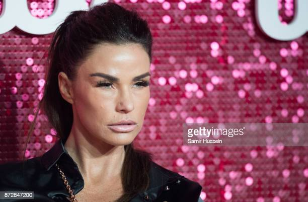 Katie Price arriving at the ITV Gala held at the London Palladium on November 9, 2017 in London, England.